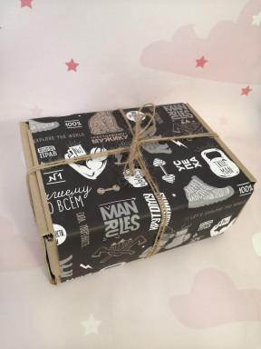 """Подарочный набор мужчине """"Брутальность"""" в крафт коробке"""